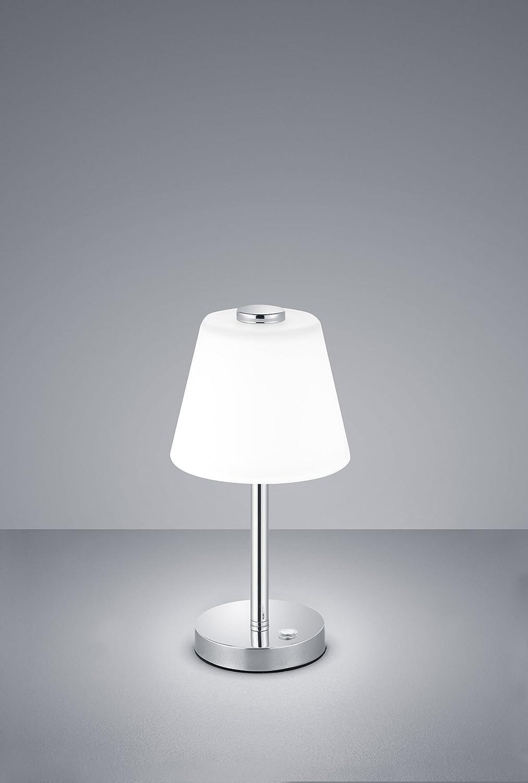 Trio Leuchten 525490106 Emerald A Tischleuchte 4 Watt Integriert Chrom 15 X 15 X 29 Cm Beleuchtung
