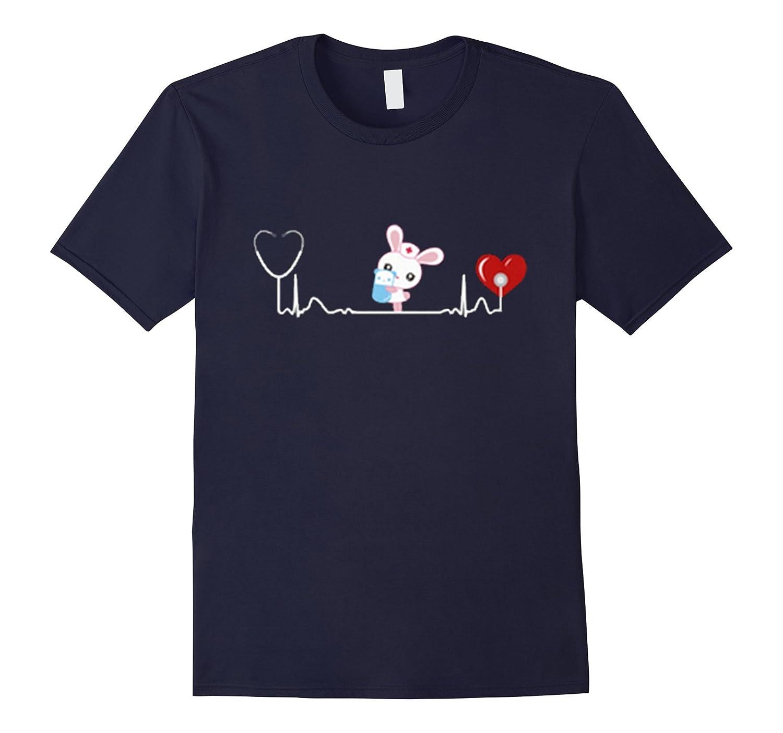Bunny Nurse Heartbeat Happy Easter Day 2017 Tshirt-TD