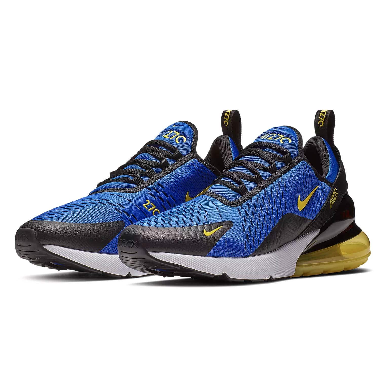 NIKE Mens Air Max 270 Running Shoes (9 M US, Game Royal/Dynamic Yellow)