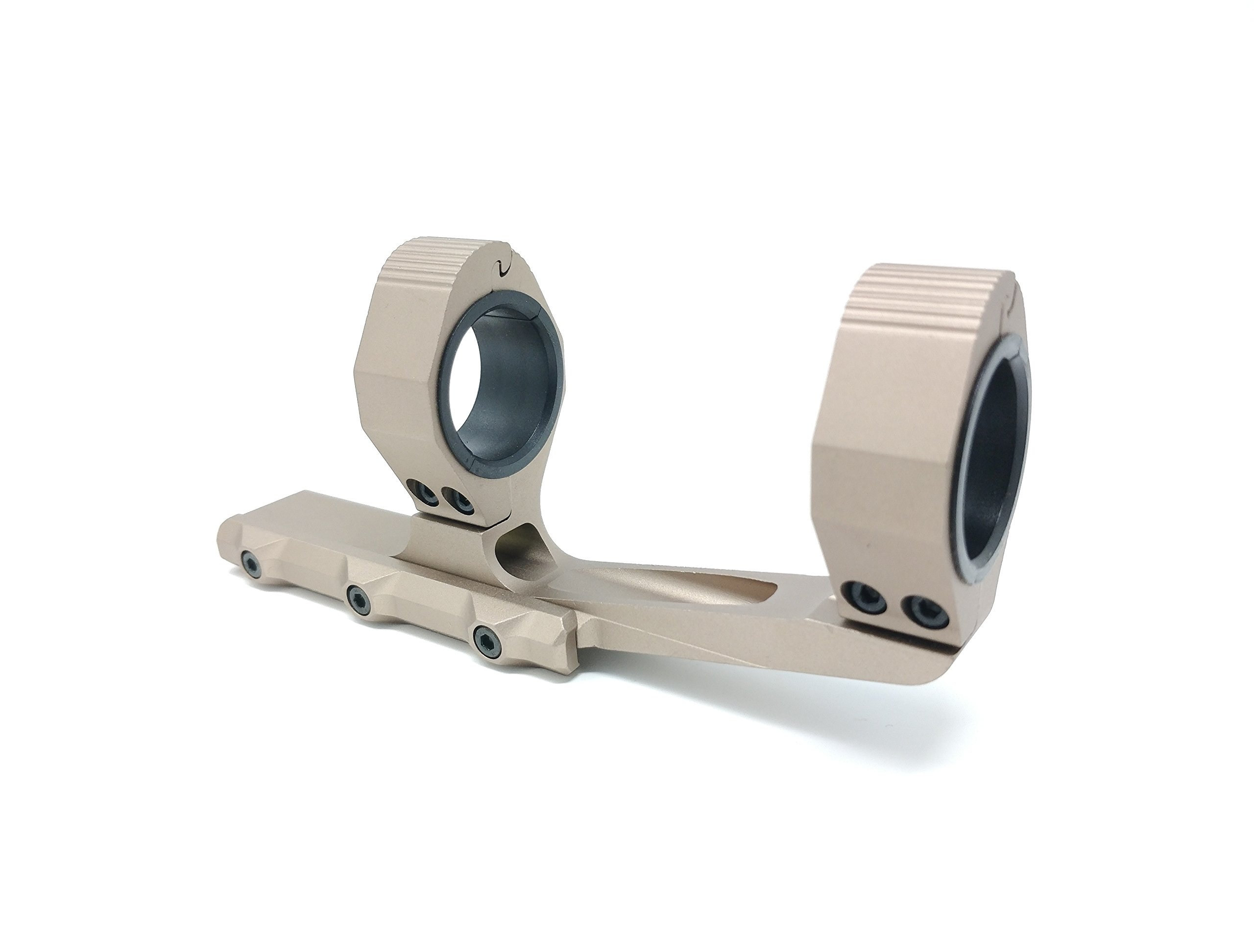 AERO Bronze Rifle Scope Mount Rings 1'' / 30mm Cantilever for 20mm Picatinny Rail Optics 2 Inch Offset With Rear Level by AERO Gold Rifle Scope Mount Rings 1'' / 30mm 2 Inch Offset With Level