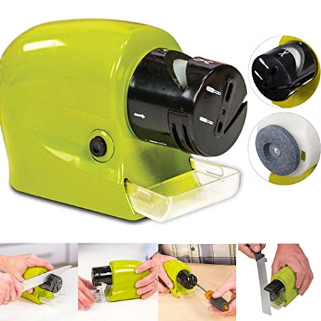 Dobo® Afilador de cuchillos eléctrico con pilas. Afila ...