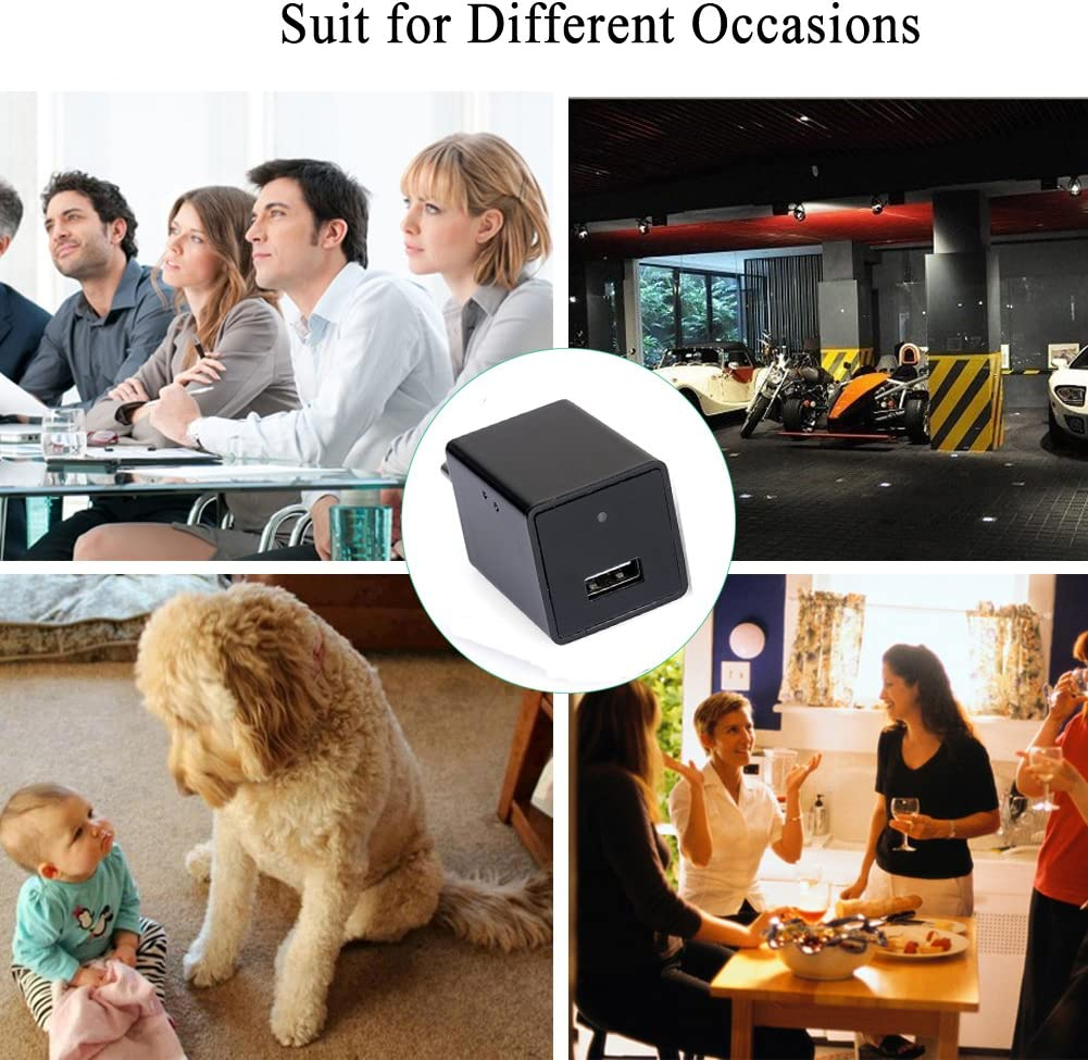 HD P2P Charger Camera USB Wall Charger Adapter Portable IP Camera for Nanny Cam Home Security Remote View NCOREJNJIJKKM6915 Mini Camera Charger Adapter Ztcolife 1080P Mini Wifi Surveillance Camera