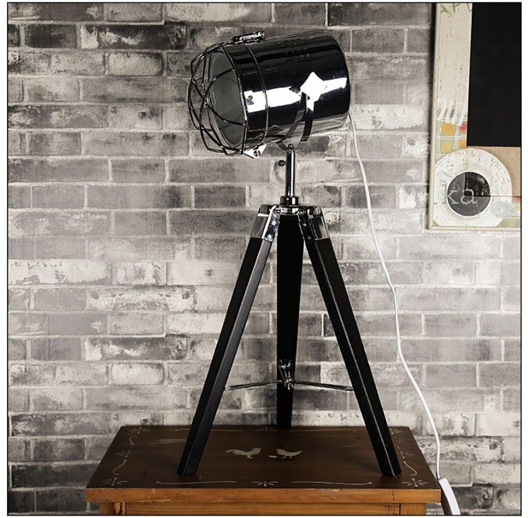 テーブルランプ三脚木製テーブルランプ木製のアートシンプルなクリエイティブな装飾ソリッドウッドのベッドルームテーブルランプ220v E27デスクランプシェードヘムロックダブルプロテクションデスクランプ (色 : A) B07D8X383V 23411  A