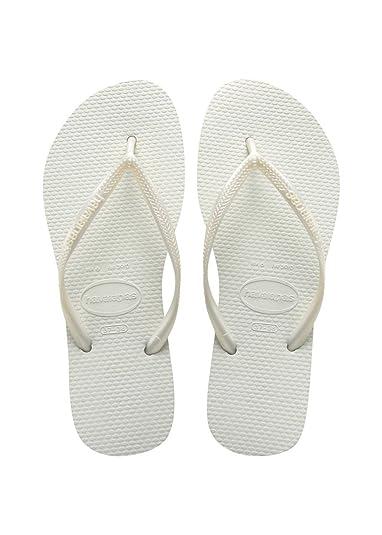 Brasil White Mens Womens Unisex Beach Flip Flops-38 Havaianas 1iFIYiEgT