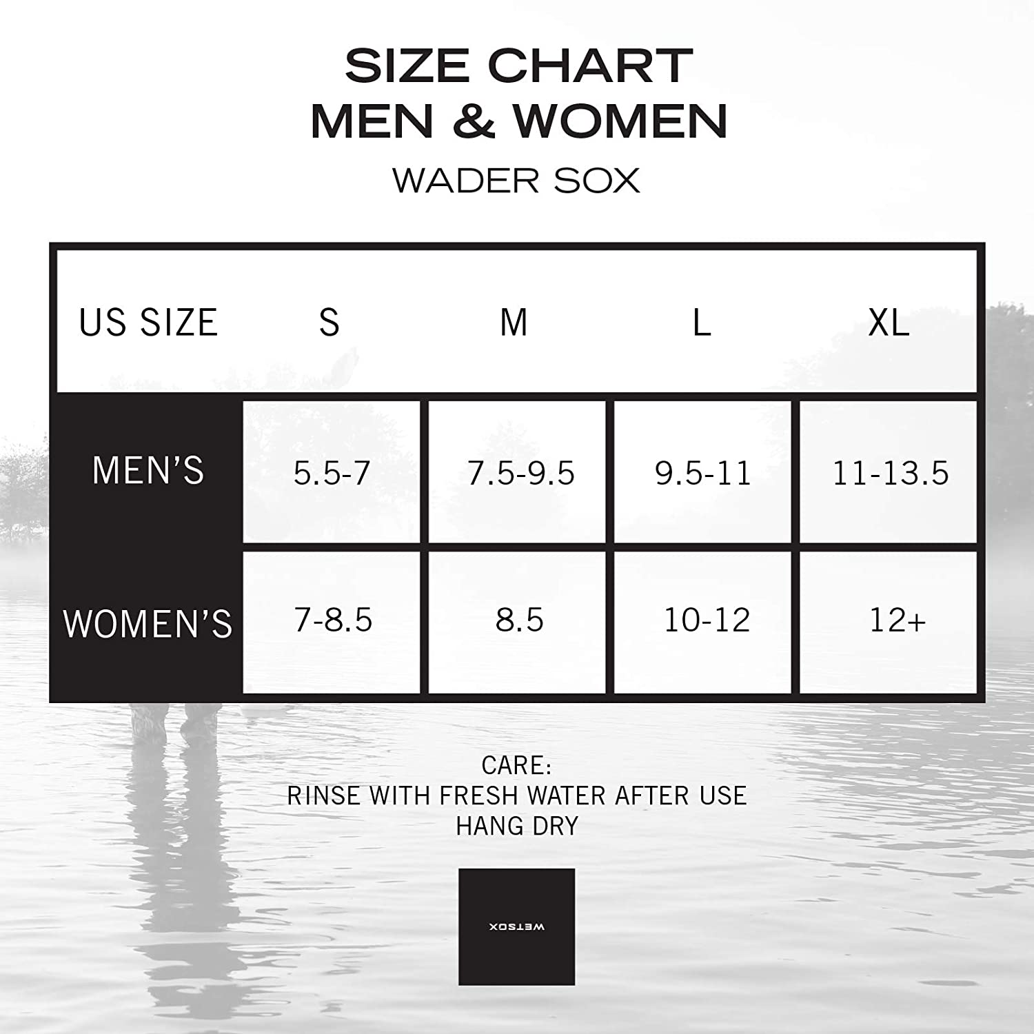 ; Frictionless to Get You in and Out of Waders or Boots w//Ease WETSOX Wader Sox 1MM- Insulated Neoprene Core Hunting//Fishing Socks Designed for Warmth Wet or Dry