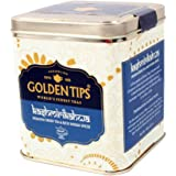 Golden Tips Kashmiri Kahwa Green Tea (40+ Cup, 100gm) Tin Caddy   Best for Weight Loss, Blended with Authentic Spices Like Cardamom, Cinnamon with Premium Quality Loose Leaf Green Tea