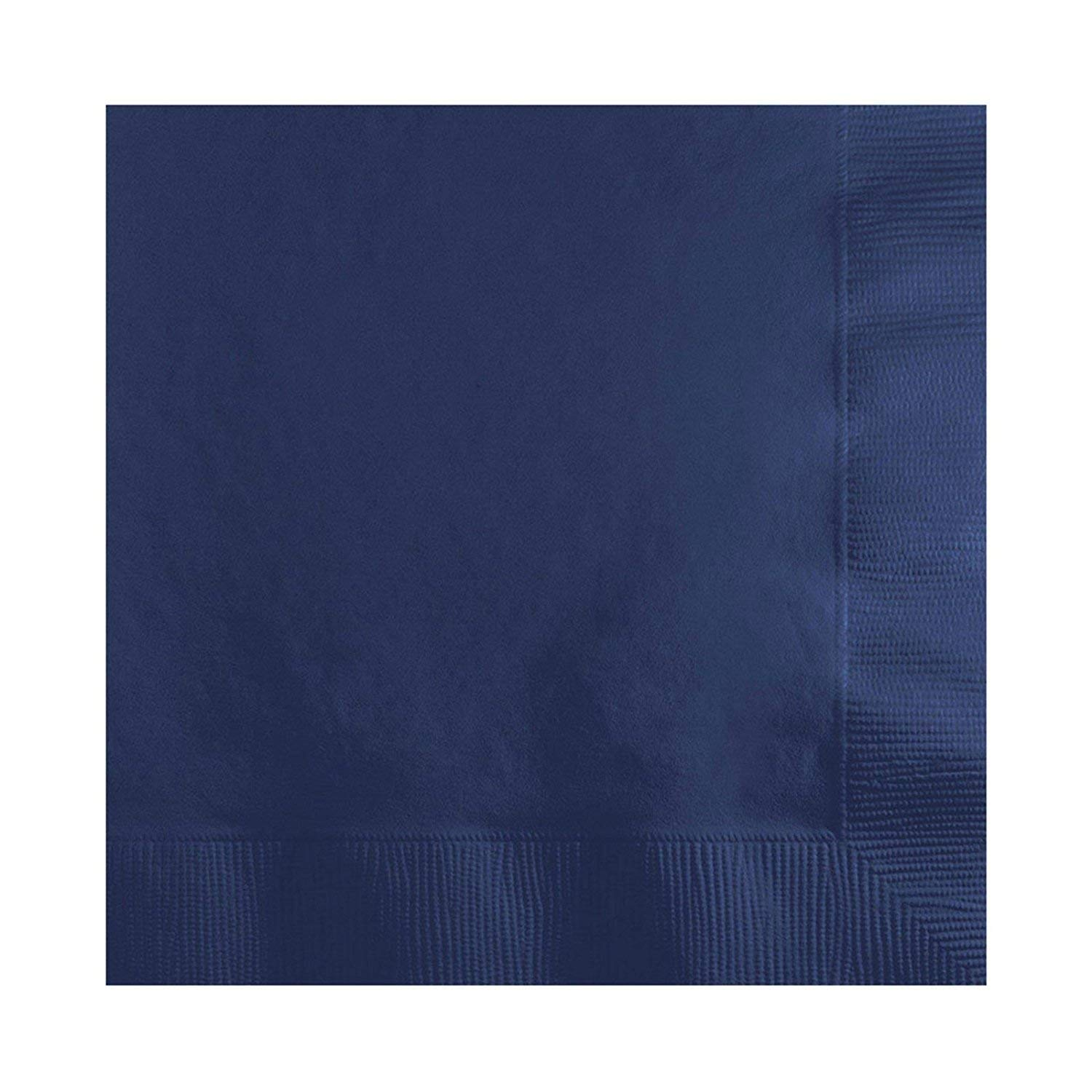 Navy Beverage Napkins (100-count) and Navy Dinner Napkins (100-count), and Comes with a Party Planning Checklist by Creative Converting Touch of Color