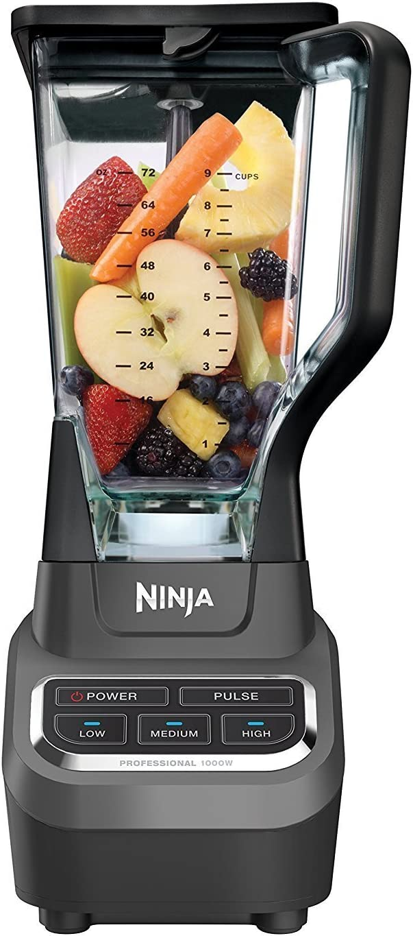 Ninja 1000 Watts Professional Blender, Silver/Black (Certified Refurbished)