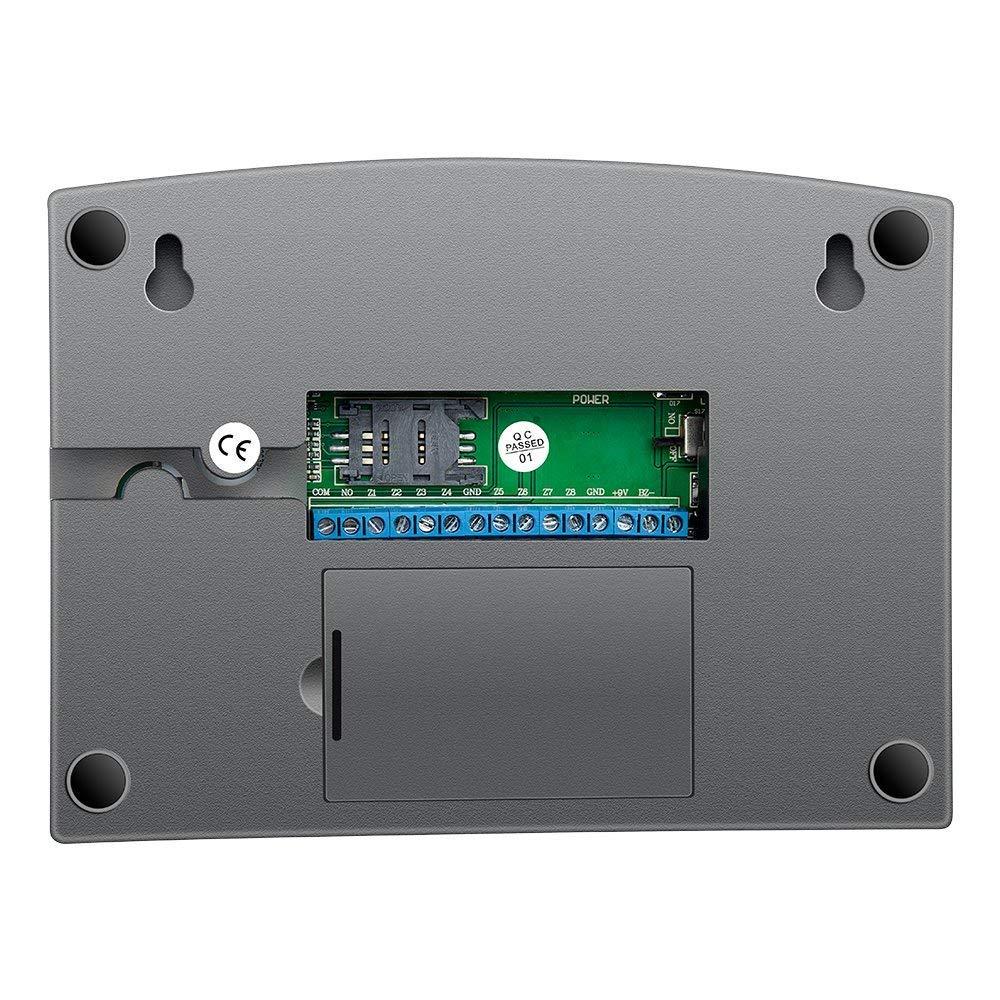 Sistema de Alarma GSM/SMS,ECTECH LCD Pantalla de Menú en Castellano Teclados Llamadas de 6 Teléfonos Diferentes Antirrobo Sistema de Seguridad para el Hogar ...