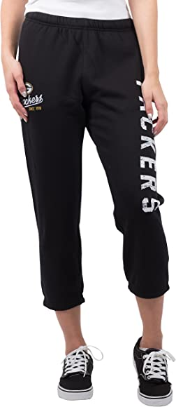 e8c1ce5e NFL Green Bay Packers Women's Capri Cropped Fleece Sweatpants, Team Color,  Black, Large