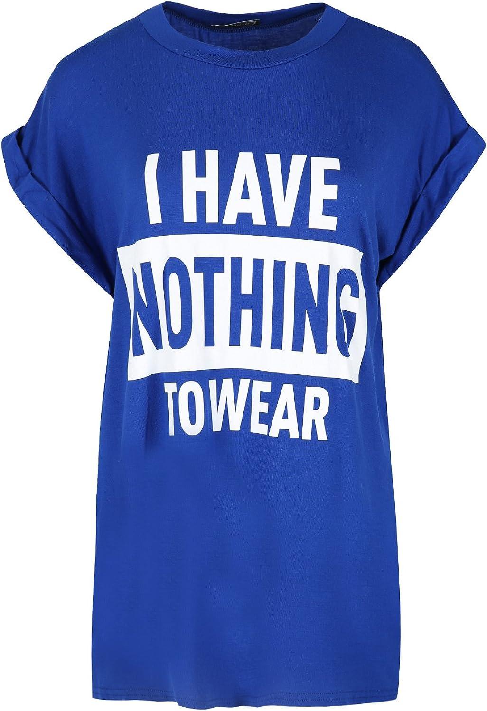 Fashion Star Women Ladies Oversize Baggy Slogan Like a Boss Print Turn up Sleeve Varsity Top T-Shirt