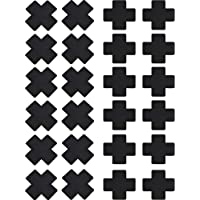 SATINIOR 15 Pairs Nipple Covers Disposable Breast Covers Self-adhesive Pasties Stickers, Cross Shape, Black
