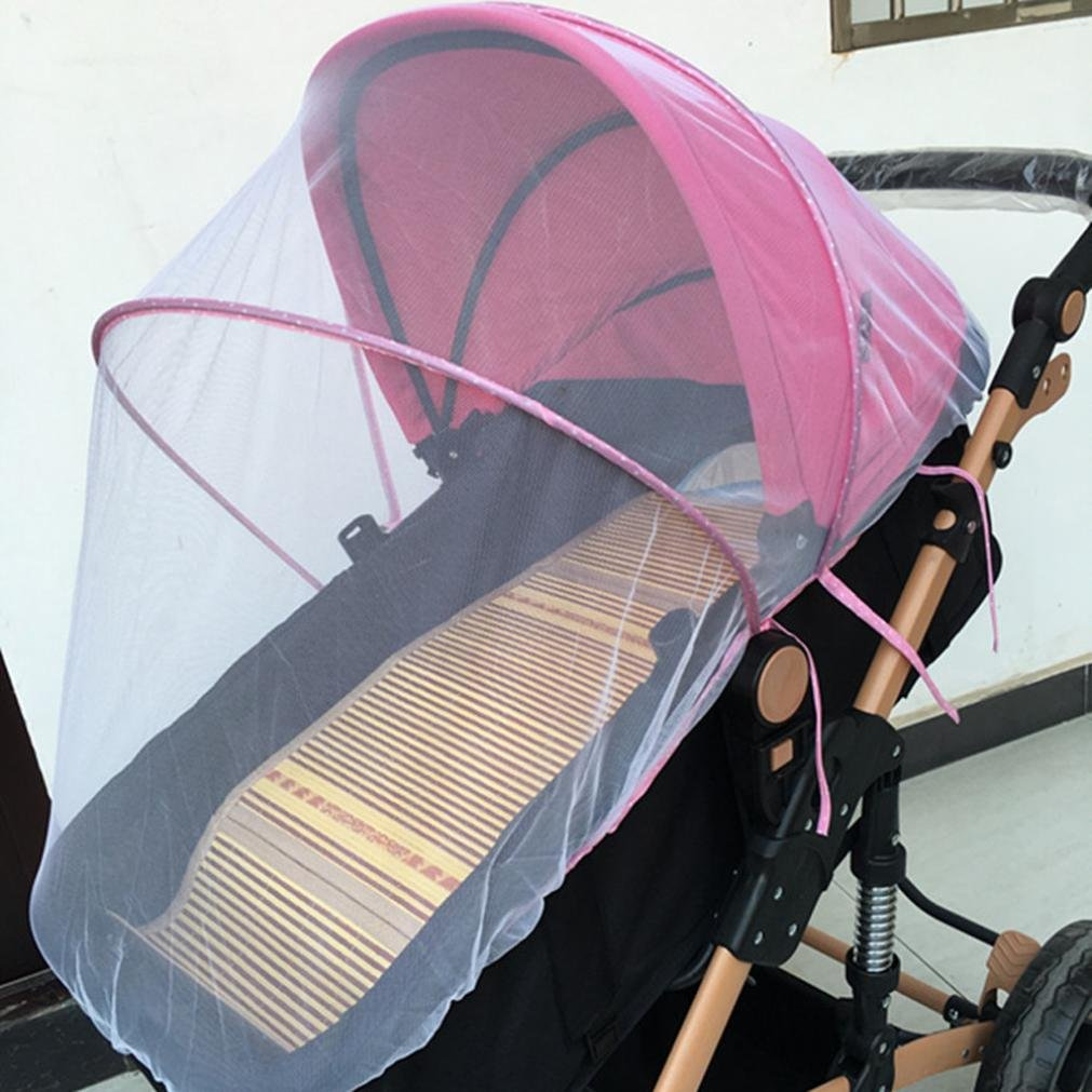 Creazy Baby Stroller Mosquito Net Full Insect Cover Carriage Kid Foldable Kids Netting (Pink) by CreazyDog® (Image #4)