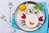 TeamFar Toddler Plates, 8 Inch Stainless Steel Kids Dinner Metal Plates, Round Serving Salad Plates for Camping Outdoor Party, BPA Free & Healthy, Sturdy & Heavy Duty, Dishwasher Safe - Set of 6