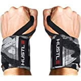 Hustle Athletics Wrist Wraps Weightlifting - Best Support for Gym & Crossfit - Brace Your Wrists to Push Heavier, Avoid…