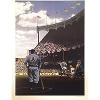 $199 » Babe Ruth Lou Gehrig Yankee Stadium Ws 1927 Litho Signed Bill Purdom /634 18x24