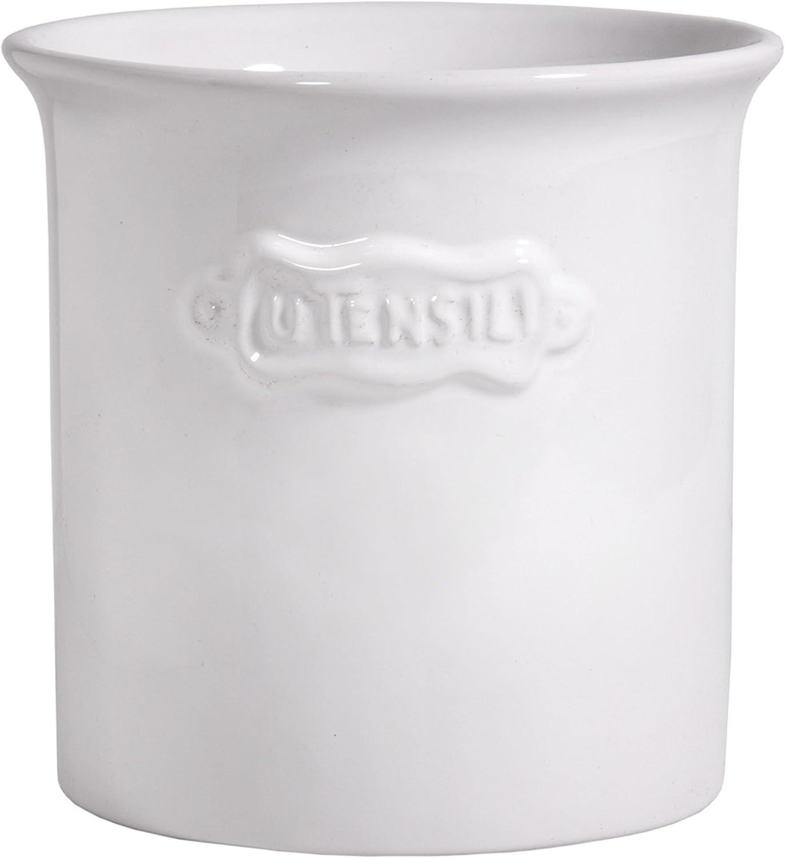 Palais Essentials Ceramic Utensil Crock Utensil Holder (White)