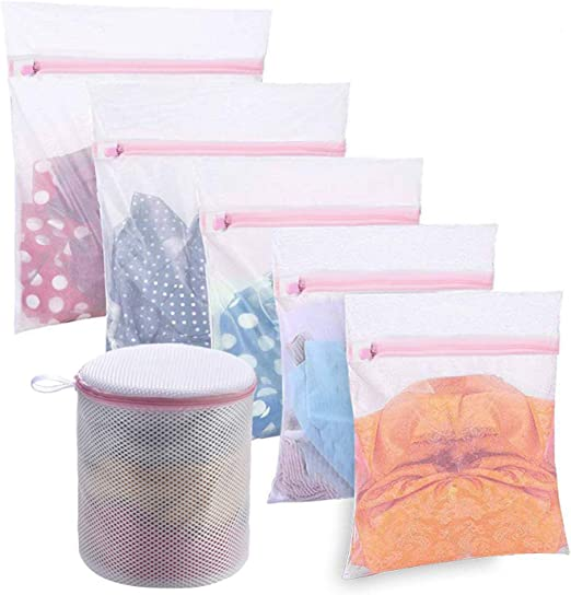 Zipped Wash Bags Laundry Washings Mesh Nets Lingerie Underwears Bra Clothes S LD