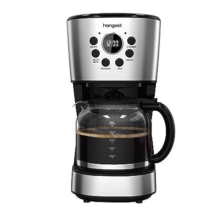Amazon.com: Homgeek Programmable Coffee Maker, 12-Cup Coffee ...