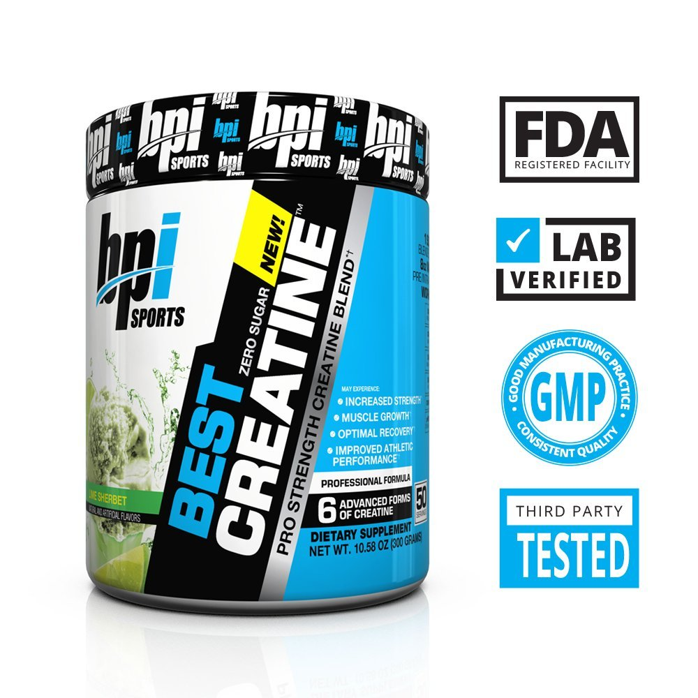 Amazon.com: BPI Sports Best Creatine with Himalayan Salt, 10.58 Ounce -  Lime Sherbet: Health & Personal Care