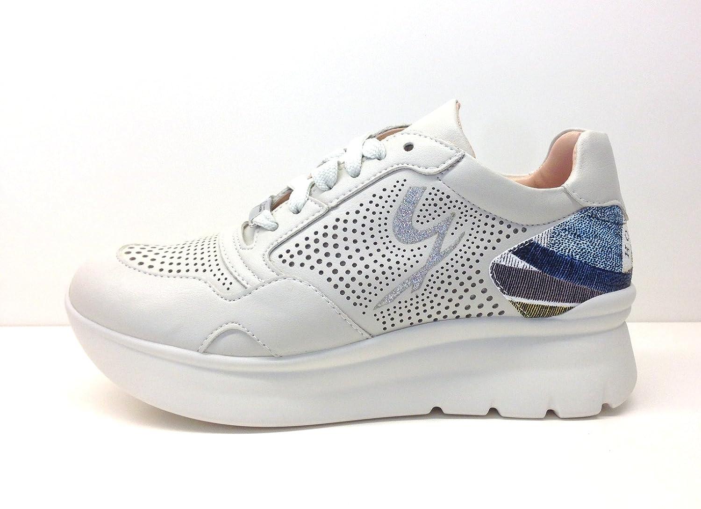 Gattinoni Woman Sport Shoe PEGVA6042WHB, Scarpe Donna,  Lacci, Suola Platform 40 EU) -