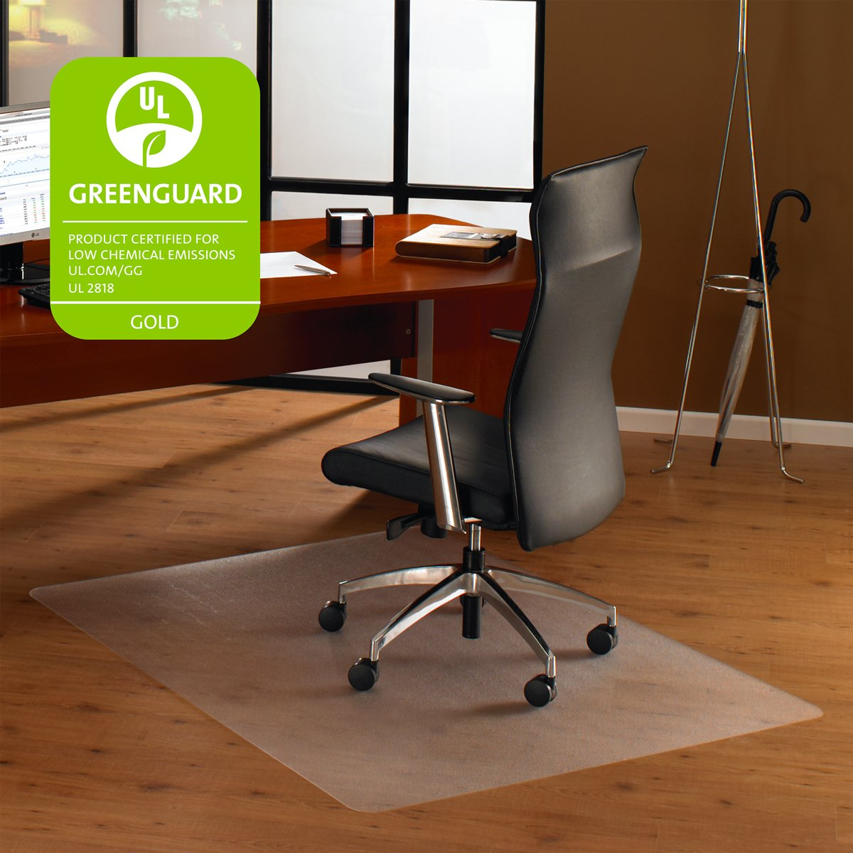 Amazon.com : Floortex EC128919ER Cleartex Ultimat Polycarbonate Chair Mat  For Hard Floors, 35 X 47, Clear : Office Products
