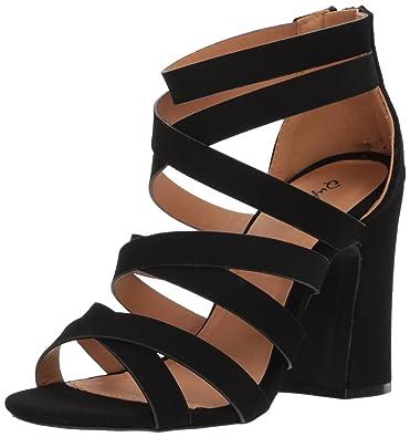 cef40d932602 Qupid Women s Chunky Heeled Sandal