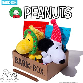 BarkBox Special Edition Peanuts® Box with Monthly Subscription | Dog Chew Toys, All Natural Dog Treats, Dental Chews, Dog Supplies Themed Monthly Box