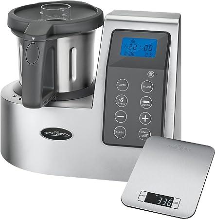 Proficook MKM 1074 - Robot de cocina con 10 funciones, 9 velocidades y turbo, capacidad 2 l + báscula de cocina regalo: Amazon.es: Hogar