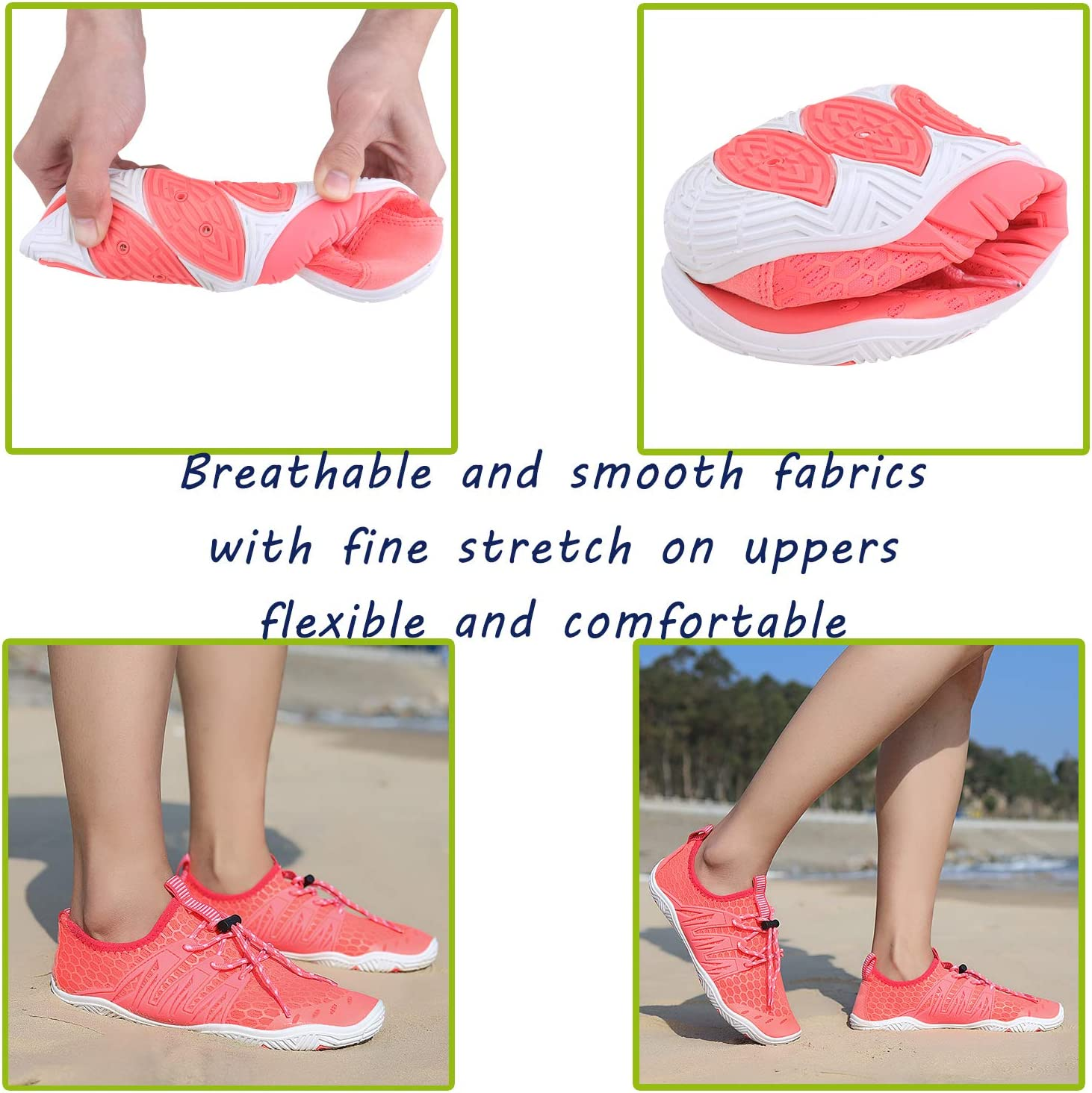 JointlyCreating Men Women Water Sports Shoes Slip-on Quick Dry Aqua Swim Shoes for Pool Beach Surf Walking Water Park 1-k-orange