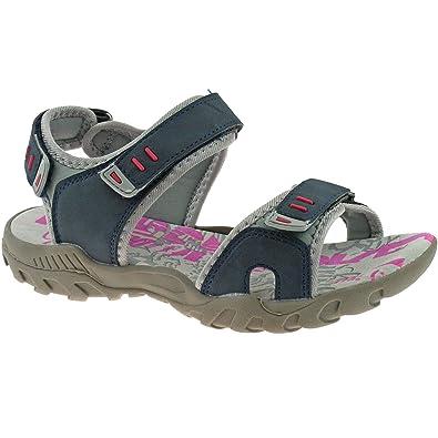 Ladies Womens PDQ Navy Blue Grey Adventure Trail Walking Velcro Sports  Sandals Sizes 4 5 6 5700b52cc5