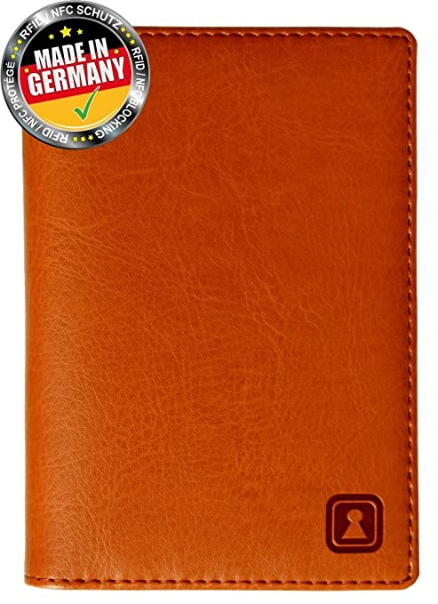 a6aacb8a2350 OPTEXX® RFID Passport Wallet / Case / Organizer Mika Cognac TÜV ...