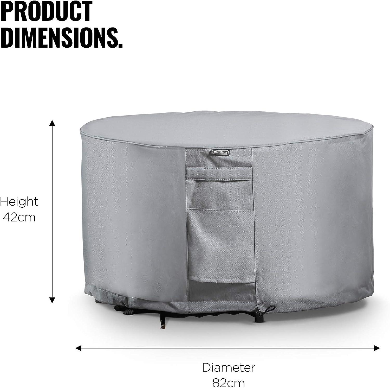 Tessuto traspirabile resistente all/'acqua per uso interno ed esterno VonHaus Copertura per tavolo rotondo caldo pioggia polvere e altro Protegge da vento gelo
