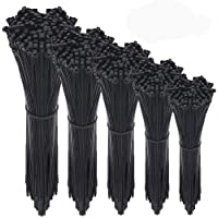 Wire Ties,HMfire 500 Pcs Adjustable & Durable Self-locking Nylon Zip Cable Ties Heavy Duty, 4/6/8/10/12Inch, 4mm Width…