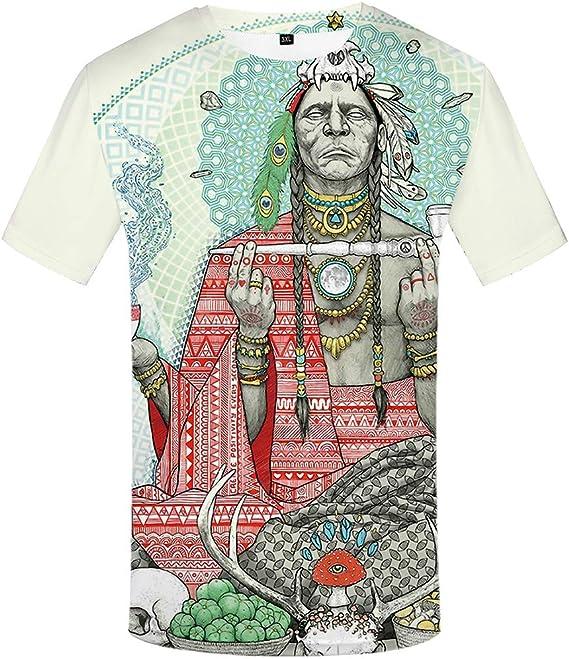 NESTK Camiseta Camiseta India de los Hombres Camiseta 3D ...