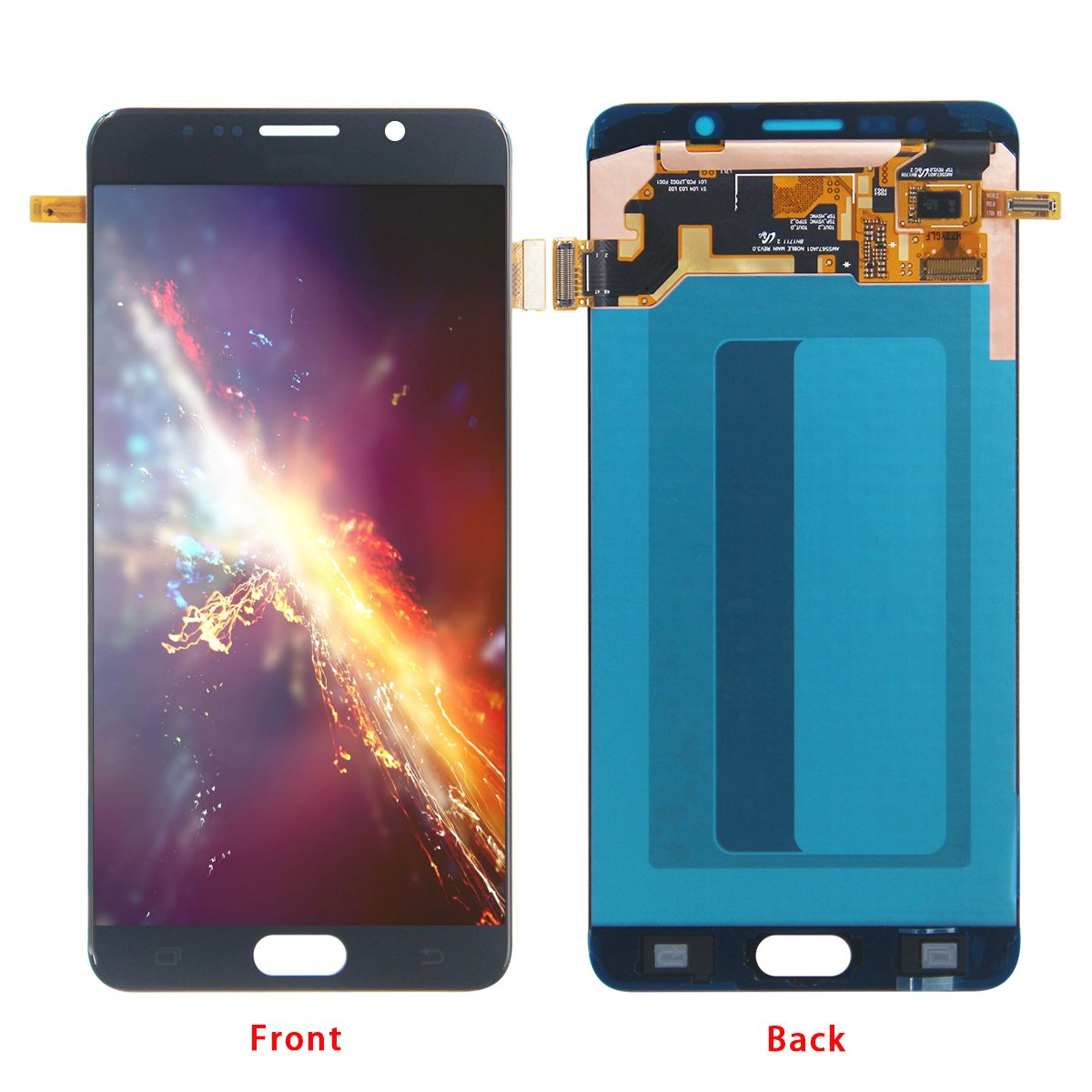 HJSDtech LCD Touch Glass Screen Display Digitizer Assembly Replacement for Samsung Galaxy Note 5 N920 N920f N920t N920a ( Black)