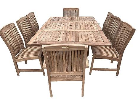 Lewes 8 - Conjunto de muebles de jardín madera de teca 1.2 m ...