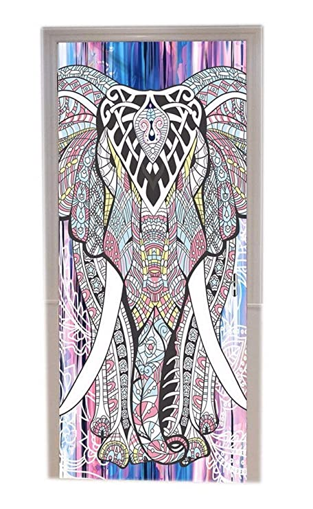 A.Monamour Pegatinas De Pared Indio Hippie Mandala Elefante Tribu ...