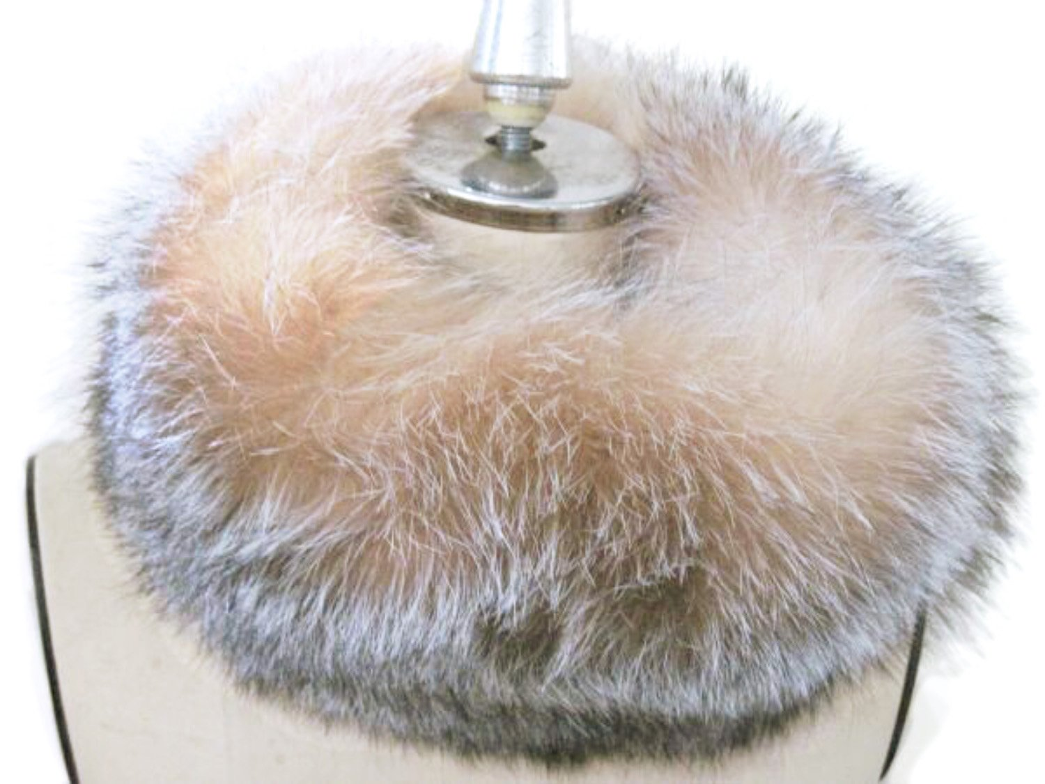 5-5.5 inches Wide Dyed Crystal Fox Funnel Collar & Oversize Neck Warmer Loop