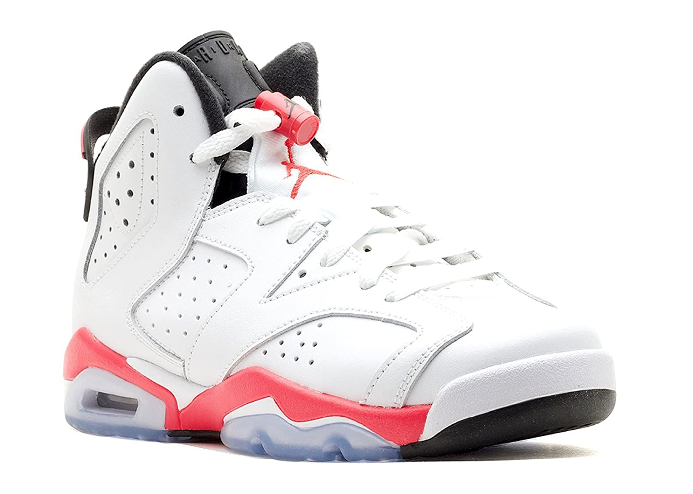 62e0b3c0ce2f Amazon.com  AIR Jordan 6 Retro BG (GS)  Infrared 2014  - 384665-123 - Size  7  Shoes