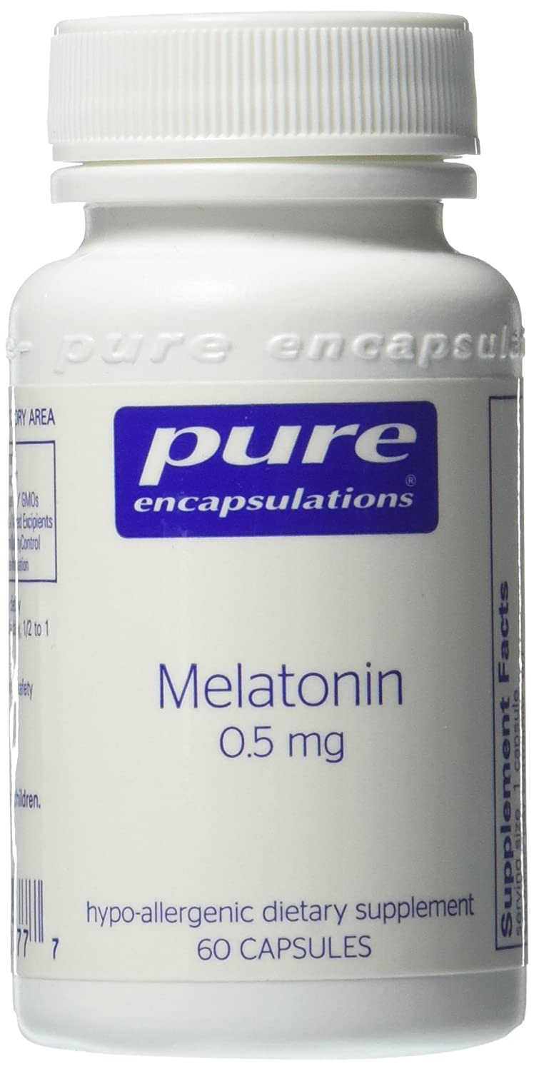 Amazon.com: Pure Encapsulations - Melatonin 05 mg. - Hypoallergenic Supplement Supports the Bodys Natural Sleep Cycle* - 60 Capsules: Health & Personal ...