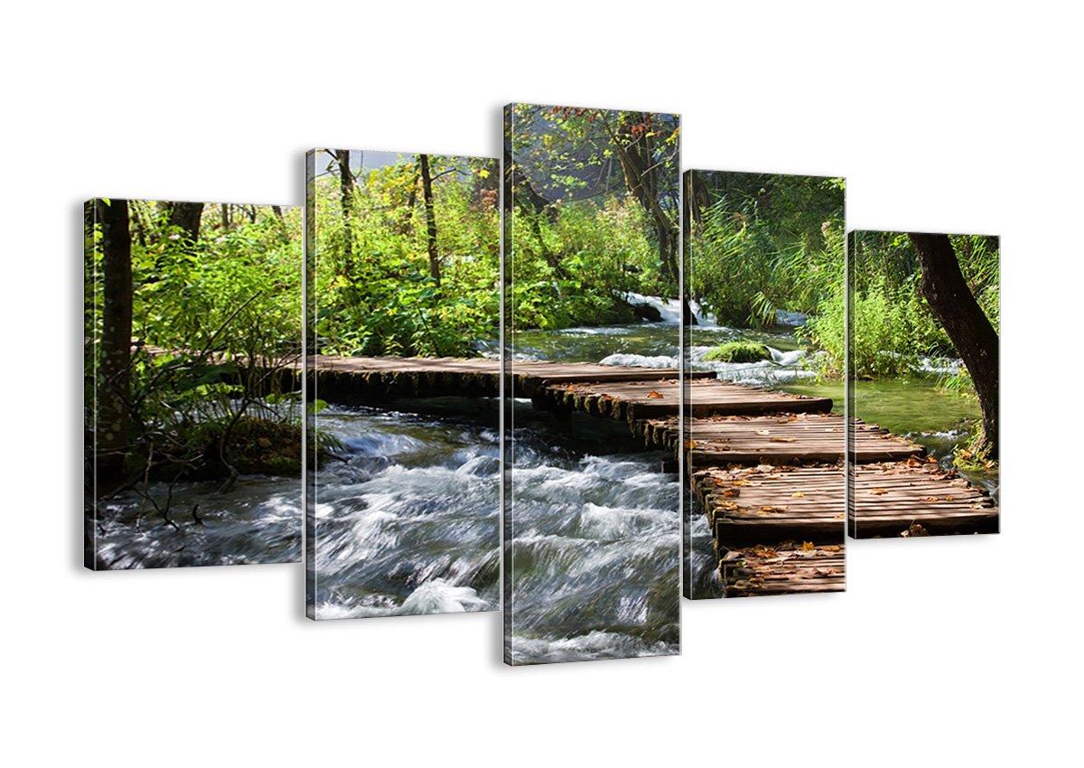 Bild auf Leinwand - Leinwandbilder - fünf Teile - Breite  150cm, Höhe  100cm - Bildnummer 0356 - fünfteilig - mehrteilig - zum Aufhängen bereit - Bilder - Kunstdruck - EA150x100-0356