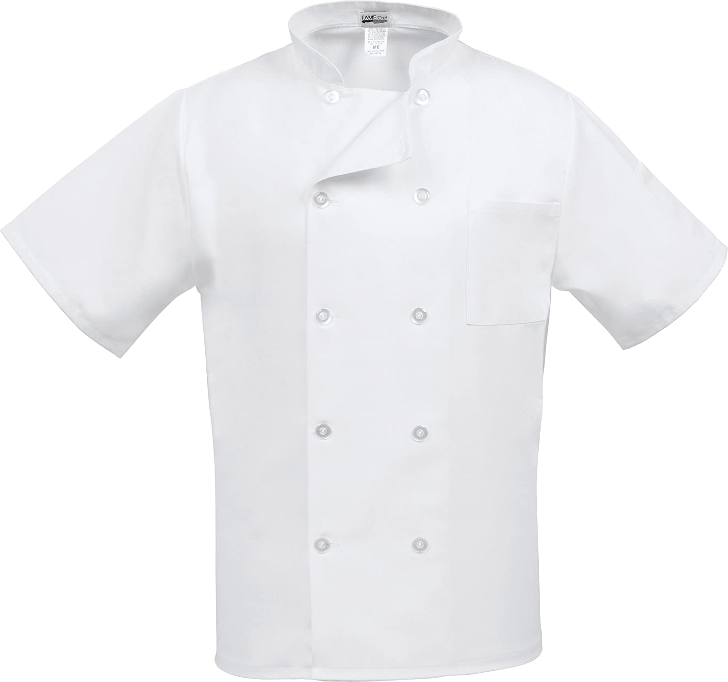 Fame Adult's Short Sleeve Chef coat 35