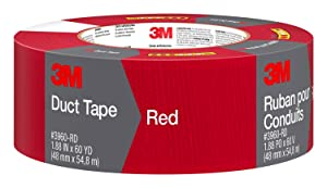 3M 3960-RD Red Duct Tape, 1.88 Inches by 60 Yards