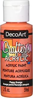product image for DecoArt Crafter's Acrylic Paint, 2-Ounce, Poppy Orange