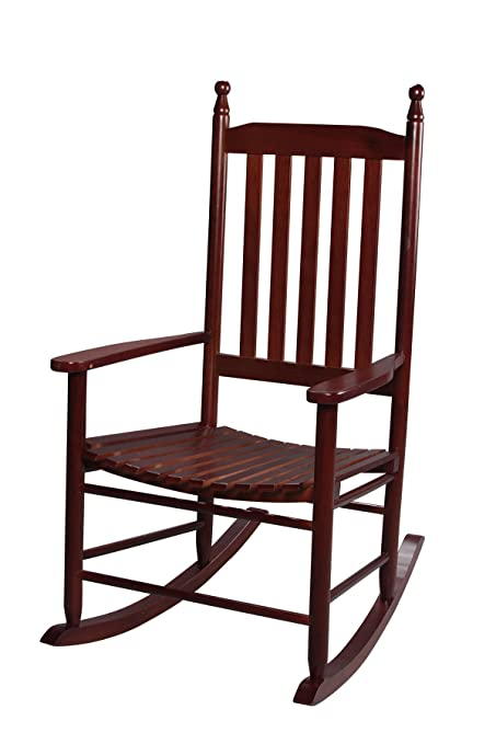 Merveilleux Gift Mark Adult Tall Back Rocking Chair, Cherry