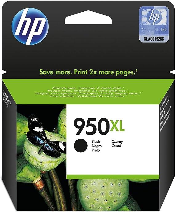 HP 950XL CN045AE Negro, Cartucho de Alta Capacidad Original, de 2.300 páginas, para impresoras HP Officejet Pro serie 8600, 8100, 251dw y 276sw