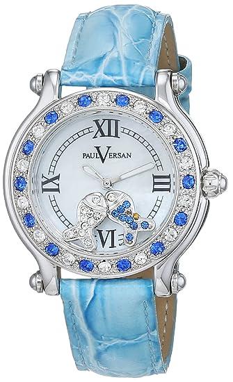 Paul Versan Reloj Análogo clásico para Mujer de Cuarzo con Correa en Cuero PV7001: Amazon.es: Relojes