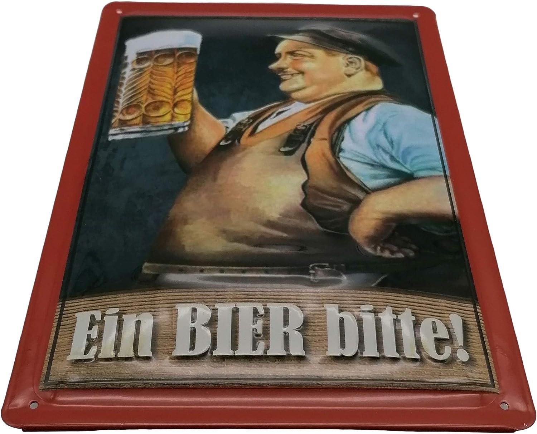 Shabby Bier Poster Biertrinker Vintage Brauerei Deko Biergarten Schild *036