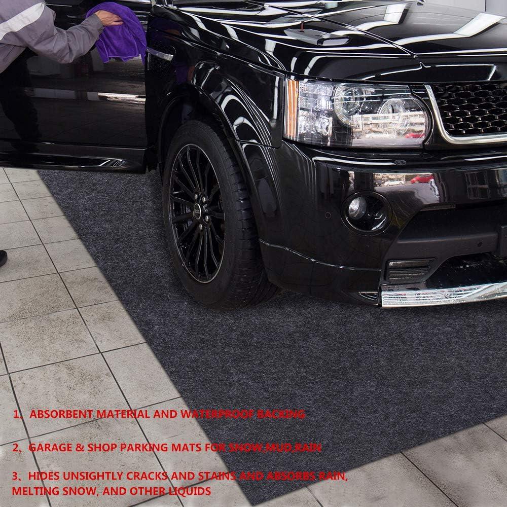 Delooant Parking Garage and Shop Floor Mats Under Cars (Garage Mats:7.56Feet x 21.1Feet)
